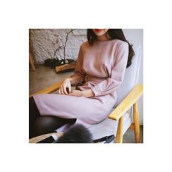 CHERRYKOKO - Wool Blend Belted Sheath Dress