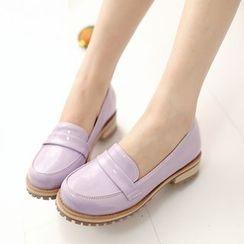 幸福鞋坊 - 漆皮乐福鞋