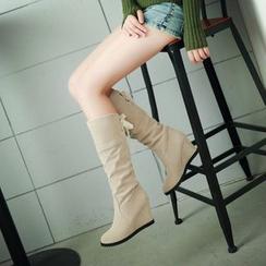 幸福鞋坊 - 褶邊船跟長靴
