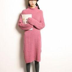 Hazie - 純色粗織毛衣連衣裙
