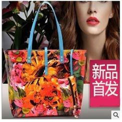 LineShow - Flower Print Tote