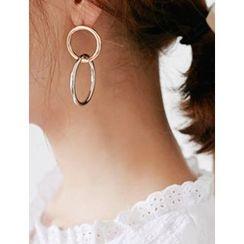 FROMBEGINNING - Double Ring Earrings