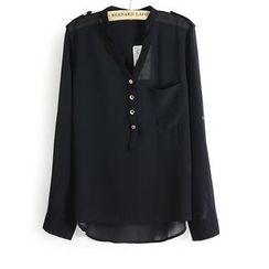 Dream a Dream - Long-Sleeve Chiffon Top