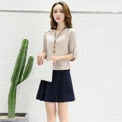 NINETTE - Set: Plain Shirt + Skirt