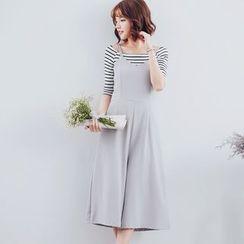 Tokyo Fashion - Cropped Wide Leg Jumper Pants