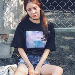 LRUD - 印花短袖T恤