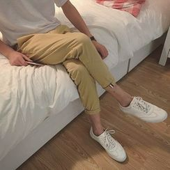 JUN.LEE - Stripe Tapered Pants