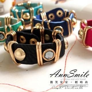 AnnSmile - Faux-Leather Bracelet