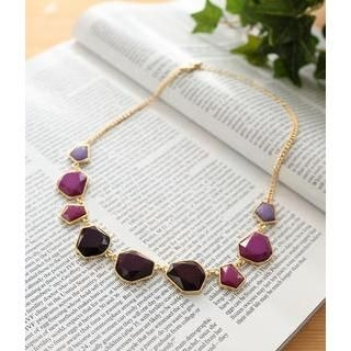 Petit et Belle - Faceted Segments Necklace