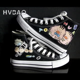 HVBAO - 'Mr.& Mrs. Pig' High-Top Canvas Sneakers