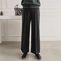 JOAMOM - Band-Waist Wide-Leg Pants