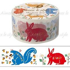 Aimez le style - Aimez le style Masking Tape Primaute Middle Relaxed Animal