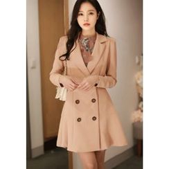 MyFiona - Double-Buttoned A-Line Coatdress