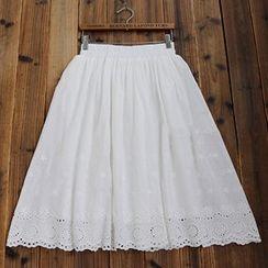 tete - Eyelet Midi Skirt