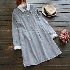 YOYO - 長袖條紋連衣裙