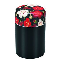 Hakoya - Hakoya Nunobari Tea Caddy L Ume Black
