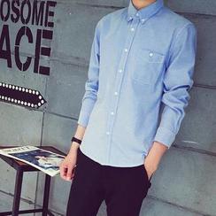 JUN.LEE - Long-Sleeve Oxford Shirt