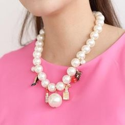 SO Central - Faux-Pearl Chain Necklace