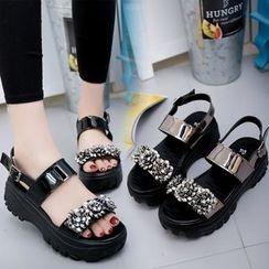 Wello - Embellished Platform Sandals
