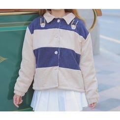 GOGO Girl - 条纹夹层夹克