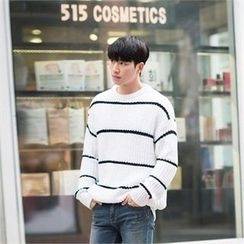 STYLEMAN - Round-Neck Stripe Sweater