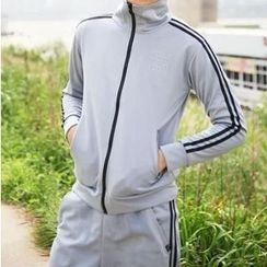 JORZ - 套装: 条纹拉链外套 + 运动裤