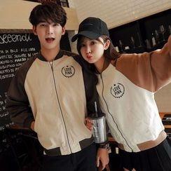 INUS - Couple Matching Raglan Baseball Jacket