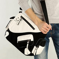 Moyyi - Two-Tone Canvas Shoulder Bag