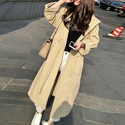 Glen Glam - Hooded Trench Jacket