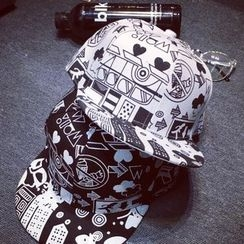 SOCOOL - 图案棒球帽子