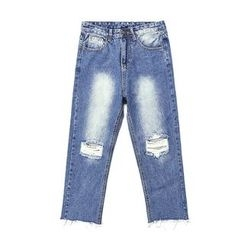 Hola - Cropped Wide-Leg Jeans
