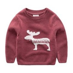 DEARIE - Kids Deer Print Sweater
