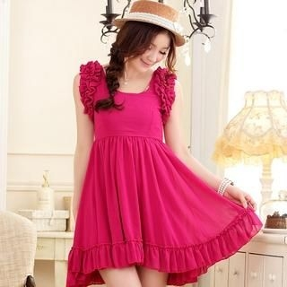 JK2 - Frilled Chiffon Dress