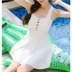 Jumei - Cross Front Swimdress