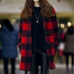 Neeya - Plaid Single-Breasted Coat
