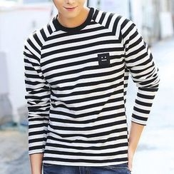 HANDA - Stripe Smiley Long-Sleeve T-shirt