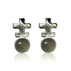 ZN Concept - Grey Agate Earrings