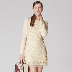 O.SA - Long-Sleeve Floral-Lace Panel Dress