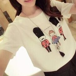 Teemaniac - Printed Short-Sleeve T-shirt