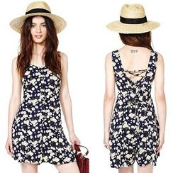 Saranghae - Sleeveless Floral Playsuit