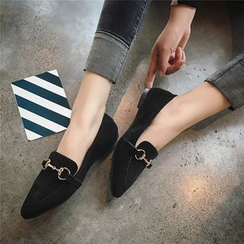 Hipsole - Pointy-Toe Paneled Flats