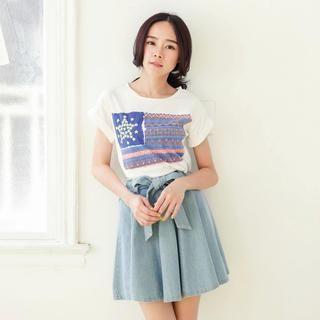 Tokyo Fashion - Short-Sleeve Printed Cropped T-Shirt