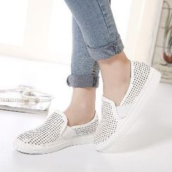 Mancienne - Perforated Slip-Ons