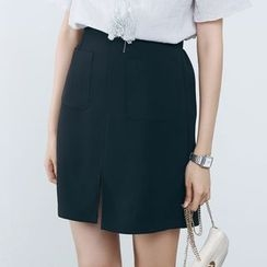 Sens Collection - Slit A-Line Skirt