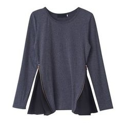 Isadora - Long-Sleeve Zip T-Shirt