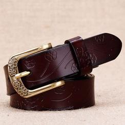 BAIEKU - Embossed Genuine Leather Belt
