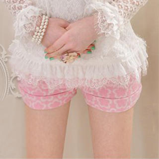 Dabuwawa - Wool-Blend Buttoned Floral Shorts