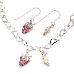 Bellini - 紅莓糖 - 耳環手鍊套裝