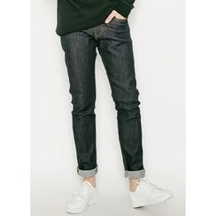 JOGUNSHOP - Stitched Straight-Cut Jeans