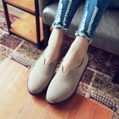 JY Shoes - Faux Suede Loafers